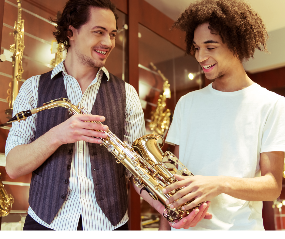 In the shop you will find your soprano saxophone.